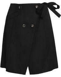 Proenza Schouler - Cotton And Wool-blend Wrap Mini Skirt - Lyst