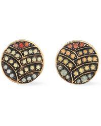 Ileana Makri - Woman Gold-tone Crystal Earrings Gold - Lyst