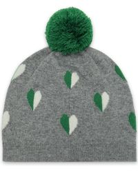 Chinti   Parker - Woman Pompom-embellished Intarsia Wool And Cashmere-blend  Beanie Gray c9e6596b1ee7