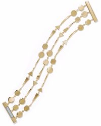 Noir Jewelry - Grid Work 14-karat Gold-plated Bracelet - Lyst