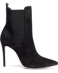 Schutz - Basia Nubuck Ankle Boots Black - Lyst