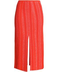 Proenza Schouler - Ribbed Stretch-knit Midi Skirt - Lyst