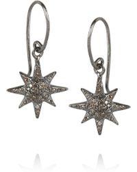 Iam By Ileana Makri Oxidized Sterling Silver Diamond Earrings