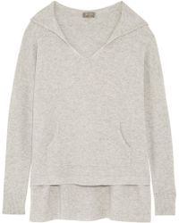 N.Peal Cashmere - Cashmere Hooded Sweater Light Gray - Lyst