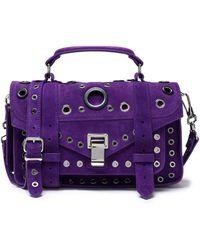 Proenza Schouler - Ps1 Eyelet-embellished Suede Shoulder Bag - Lyst