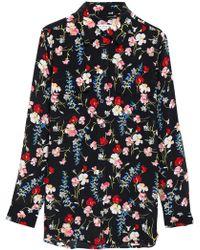 Equipment - Floral-print Silk Blouse - Lyst