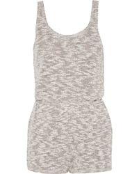 LNA - Cotton-blend Playsuit - Lyst