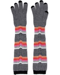 Missoni - Woman Striped Wool Gloves Multicolor Size M - Lyst