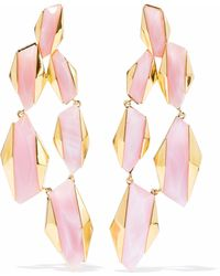 Noir Jewelry - Woman Sparks Fly 14-karat Gold-plated Resin Earrings Baby Pink - Lyst