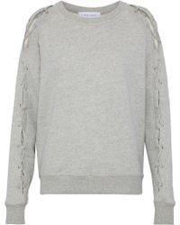 IRO - Nakina Lace-up Cotton Sweatshirt - Lyst