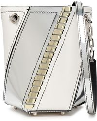 Proenza Schouler - Smooth And Mirrored-leather Bucket Bag - Lyst