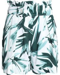 By Malene Birger - Gathered Printed Silk-crepe Top - Lyst