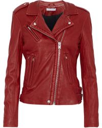 IRO - Han Leather Biker Jacket - Lyst