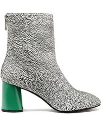3.1 Phillip Lim - Drum Printed Leather Ankle Boots - Lyst