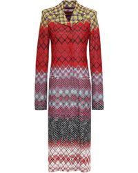 Missoni - Crochet-knit Coat Red - Lyst