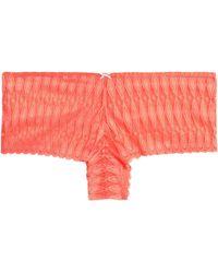 Heidi Klum - Crocheted Lace Low-rise Briefs - Lyst