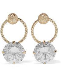 CZ by Kenneth Jay Lane - Gold-tone Crystal Earrings - Lyst