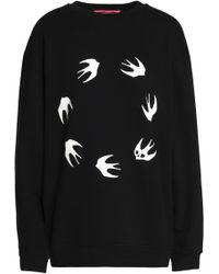 McQ - Printed Cotton-blend Sweatshirt - Lyst