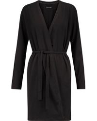 DKNY - Stretch-pima Cotton Robe - Lyst
