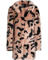 Shrimps - Bobby Leopard-print Faux Fur Coat - Lyst