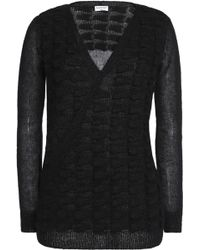 Vionnet | Wrap-effect Textured Mohair-blend Sweater | Lyst