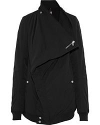 DRKSHDW by Rick Owens - Canvas-trimmed Cotton-blend Faille Jacket - Lyst