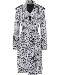 Norma Kamali - Leopard-print Scuba Trench Coat - Lyst