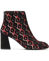 Stuart Weitzman - Metallic Jacquard Ankle Boots - Lyst