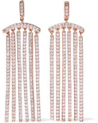 CZ by Kenneth Jay Lane - Woman Rose Gold-tone Crystal Earrings Rose Gold - Lyst