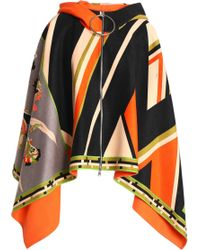 Emilio Pucci - Printed Wool And Cashmere-blend Hooded Cape - Lyst