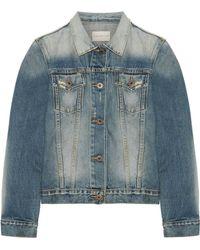Simon Miller | Keyes Cropped Distressed Denim Jacket | Lyst