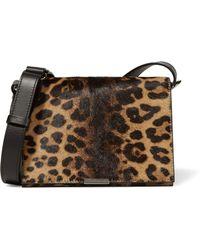 Victoria Beckham - Leopard-print Calf Hair And Leather Shoulder Bag - Lyst