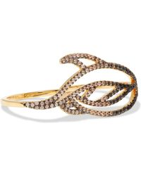 Noir Jewelry - Lustrous Gold-tone Crystal Ring - Lyst