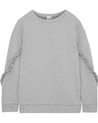 Iris & Ink - Summer Ruffle-trimmed French Cotton-jersey Sweatshirt - Lyst