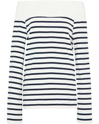 Goen.J - Off-the-shoulder Striped Cotton-jersey Top - Lyst