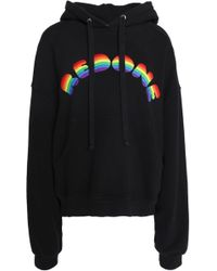 RE/DONE - Cotton Logo Hoodie - Lyst
