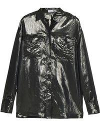 Brunello Cucinelli - Metallic Silk-blend Shirt - Lyst