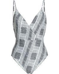 ViX - Madalena Wrap-effect Printed Swimsuit - Lyst