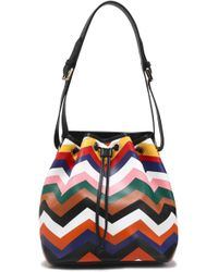 Missoni - Printed Leather Bucket Bag - Lyst