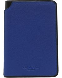 Rag & Bone - Textured-leather Wallet Cobalt Blue - Lyst