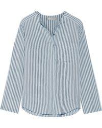 Vince - Striped Silk Shirt - Lyst