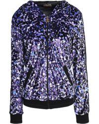 Roberto Cavalli - Grosgrain-trimmed Printed Chenille Hooded Jacket - Lyst
