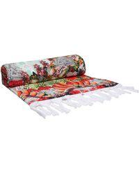 Camilla Printed Cotton-terry Beach Towel Multicolour