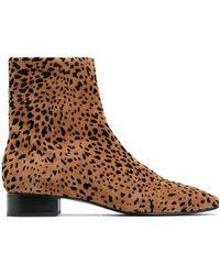 Rag & Bone - Woman Animal-print Flocked Suede Ankle Boots Animal Print - Lyst
