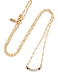Elizabeth and James - Klint Gold-tone Crystal Necklace - Lyst
