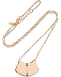 Elizabeth and James | Paxton Gold-tone Crystal Necklace | Lyst