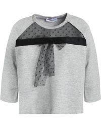 RED Valentino - Mesh-paneled Cotton-blend Terry Sweatshirt - Lyst