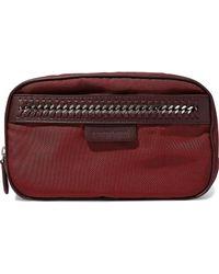 Stella McCartney - Faux Leather-trimmed Twill Cosmetics Case - Lyst