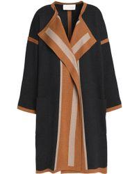 Chloé - Color-block Cotton, Silk And Cashmere-blend Cardigan - Lyst
