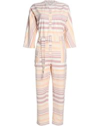 Mara Hoffman - Striped Cotton-canvas Jumpsuit - Lyst